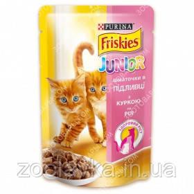 Purina Friskies Junior Консервы для котят с курицей в подливе 100 гр