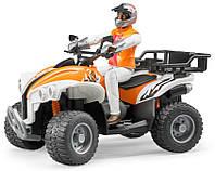 Квадроцикл Bruder с фигуркой водителя (63000)