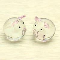 Хрустальное стекло пару свинья свинья свинья милый орнамент любителей везет подарки