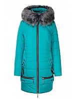 Стильное зимнее пальто - пуховик