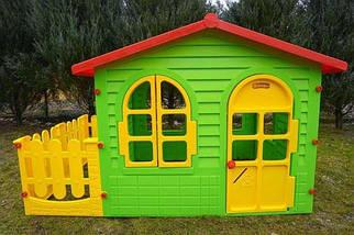 Большой детский домик Mochtoys с заборчиком, фото 3