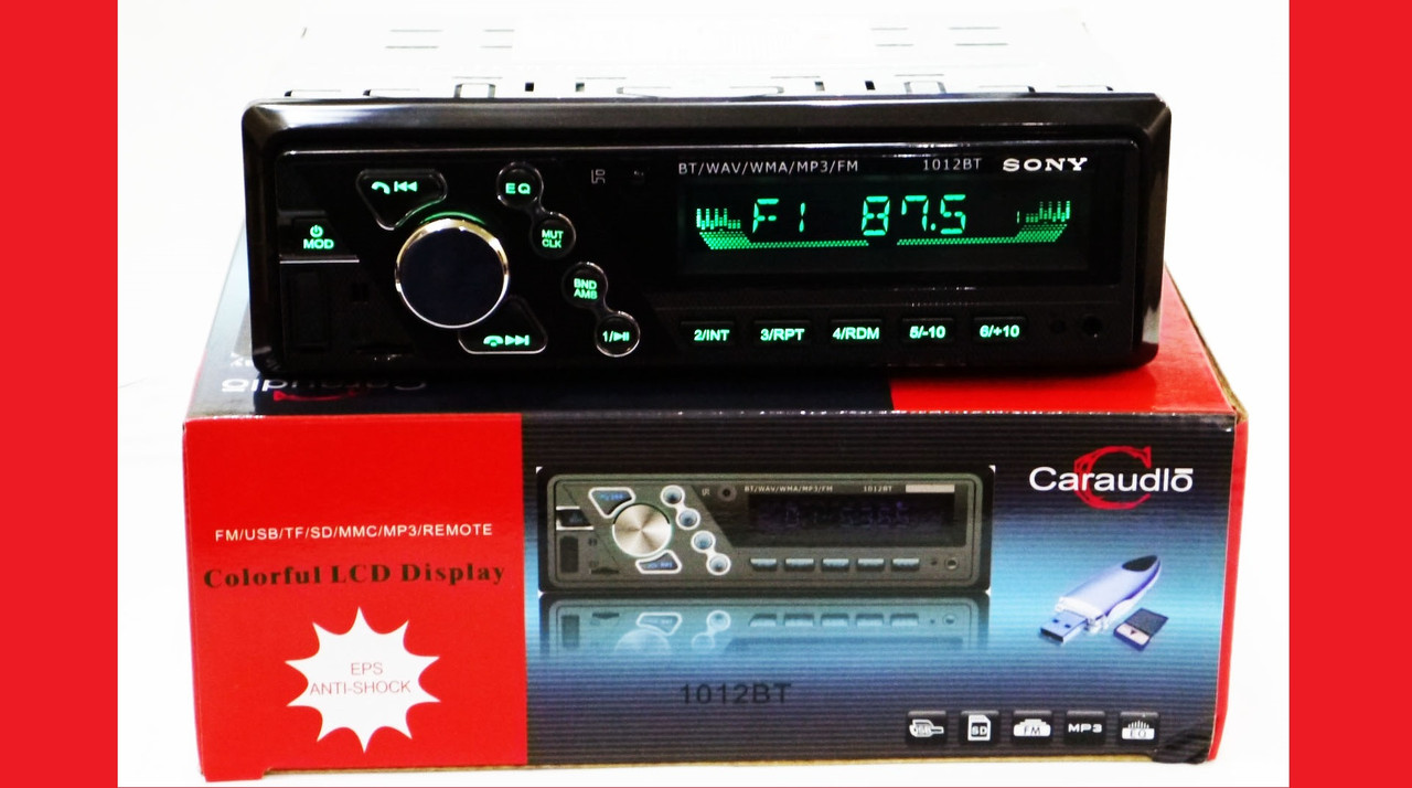 Sony 1012BT ISO + BLUETOOTH - RGB подсветка- MP3 Player, FM, USB, SD, AUX