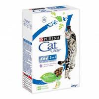 Purina Cat Chow Feline 3 in 1 Сухой корм для взрослых кошек (3 в 1) с индейкой 0,400кг
