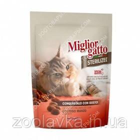 Morando Migliorgatto Sterilized with beef Сухой корм для стерилизованных кошек с говядиной 0,400кг