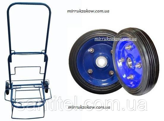 Тележка (кравчучка),цельнометаллическая с железными колесами на подшипниках,высота 100 см