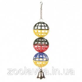Trixie 5251 Игрушка для попугаев 3 шара с колокольчиком