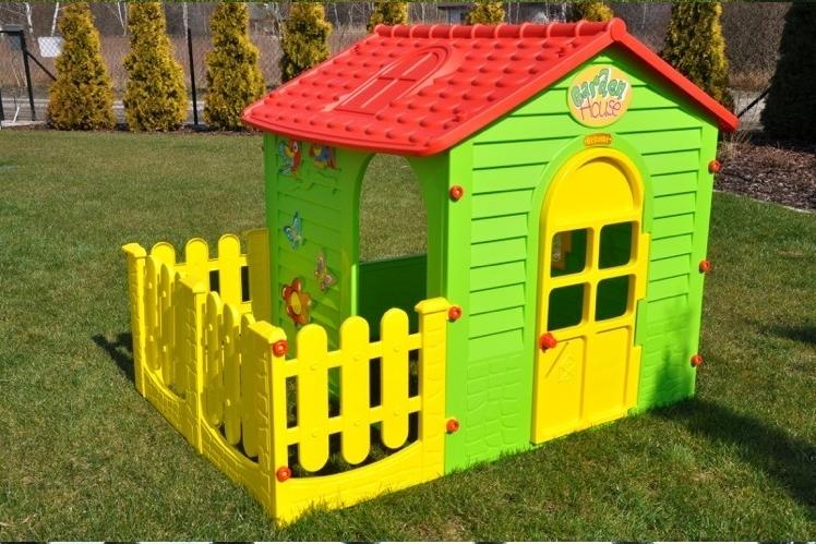 Детский домик с заборчиком Mochtoys