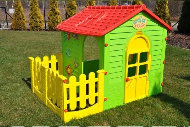 Детский домик с заборчиком Mochtoys, фото 2