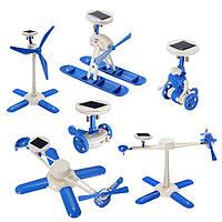 6 в 1 солнечные роботы игрушки Сделай сам самолет образовательных малышу подарок креативный