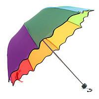 Мульти цвет flouncing купола зонт складной солнце/дождь/ветер зонтик