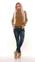 Стильные джинсы со средней посадкой Турция. Артикул: 17099