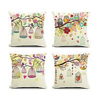 Птичья клетка серии хлопок белье диван наволочка декоративная Чехлы
