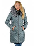 Зимний женский пуховик-пальто