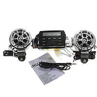 12v мотоцикл звук аудио система LCD рычаг управления FM-радио акустические системы