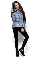 Ультрамодная зимняя куртка Англия трапециобразного кроя с высоким воротником-стойкой 42-48р