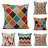 Геометрические абстрактные печатных чехлы диван-кровать наволочка