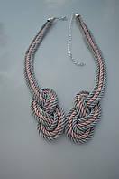 Ожерелье из каната серо -персиковое