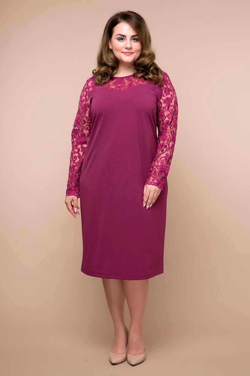 Пряме гарне плаття для повних жінок Емілія бузок