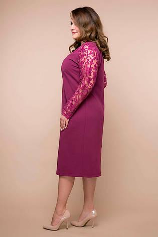 Пряме гарне плаття для повних жінок Емілія бузок, фото 2
