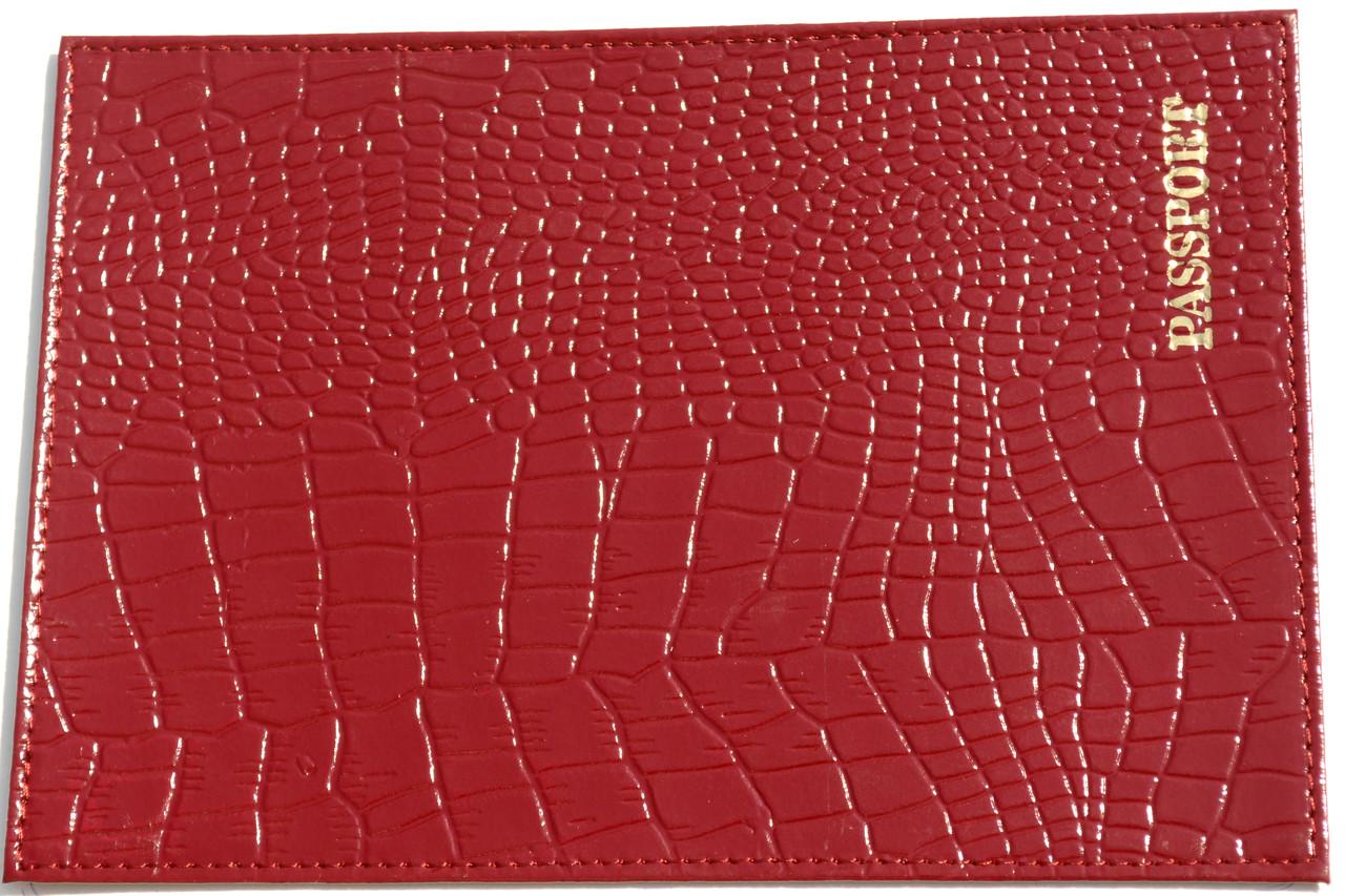 Кожаная обложка на паспорт цвет светло-коричневый