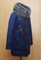 Пуховик зимний женский(46-56) с капюшоном, доставка по Украине