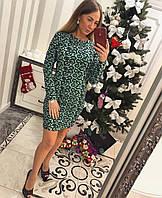Женское  платье с модным принтом