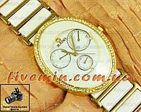Женские наручные часы Rado Ellipses Quartz White Gold кварц Японский механизм качество
