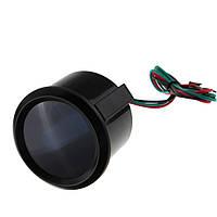 52 мм 15-45 psi красный цифровой LED черный импульс датчика двигателя автомобиля