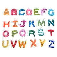 AZ буквы деревянные магниты на холодильник Детские развивающие набор