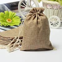 Искусственная мешковина мешковиной мини сумки свадьбы пользу подарка мешок