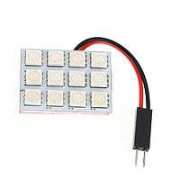 SMD 5050 LED интерьер автомобиля панель лампа + T10 + BA9S + гирлянда адаптер