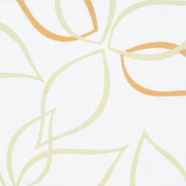 Рулонные шторы Листья желтый