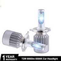 Светодиодные LED (лед) лампы H4 (8000Lm, 6000 К, 72W)