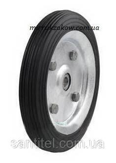 Металлическое колесо  с подшипником для тележки 160 мм на 10 мм ось