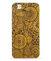 Деревянный чехол на Iphone 6 plus с лазерной гравировкой Узор-цветы