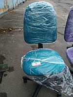 Кресло офисное б/у. Цвет :морская волна