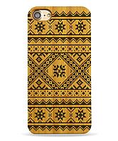 Деревянный чехол на Iphone 6 plus с лазерной гравировкой Вышиванка