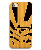 Деревянный чехол на Iphone 6 plus с лазерной гравировкой Клон StarWars