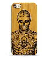 Деревянный чехол на Iphone 6 plus с лазерной гравировкой Рик Дженест