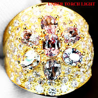 """Потрясающий перстень с александритами и белыми сапфирами """"Царевна"""", размер 18,3 от студии LadyStyle.Biz"""