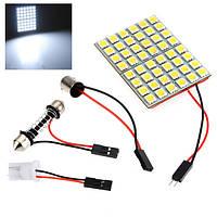 Автомобильный интерьер 5050 48 smd LED легкий panel+t10+festoon+ba9s dc 12v