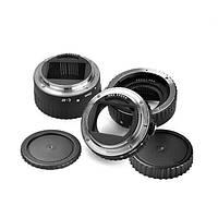 Белый цвет металла AF макрос удлинитель кольцо для Canon EOS и объективов EF от EF-S в