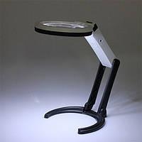 10 LED освещение стол портативный лампа с лупой 1.8x 5x
