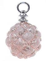 Елочный шар 13см, цвет - розовый антик, набор 6 шт