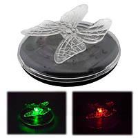Солнечная энергия LED RGB цвет изменение плавающей свет бабочка Стрекоза