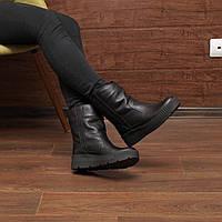 Женские зимние ботинки на овчине модель 7219.1