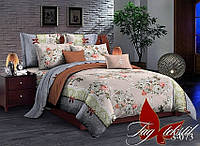 Комплект постельного белья сатин двуспальный TM Tag 073