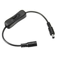 5.5x2.1mm постоянного разъем выключатель питания шнур для LED полосы