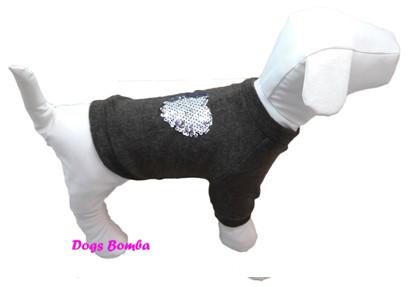 Свитер из ангоры для собак черный
