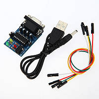 2 штук Встроенный MAX232CPE чип RS232 TTL Модуль преобразователя с кабелями